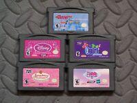 Lot Nintendo Game Boy Advance GBA Games Powerpuff Girls + Princess + 3 more