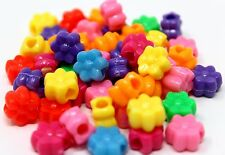 48pc Plastic Colored Flower Pony Beads Bird Toy Parrot Parts Craft Charms