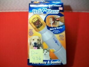 BRAND NEW PEDI PAWS PET NAIL TRIMMER - ROTATING EMORY BANDS-FAST, EASY & GENTLE