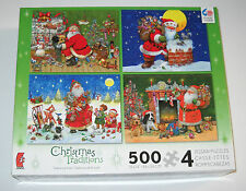 Christmas Traditions Jigsaw Puzzles 4 500 piece Santa Ceaco Made in USA Used 12+
