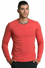Y Neck Long Sleeve Personalised T-Shirts for Men