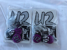 Two Packs of Tour Only U2 Buttons- Unforgettable Fire Tour- Never Opened Mint