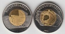 BOUVET ISLAND (BOUVETØYA) 8 Skilling 2014, man w/ flag, bimetal, fantasy coinage