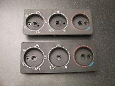 Peugeot 205/309 GTI centro Dial de control Calentador Panel (PH1 & PH2) Negro Y Gris