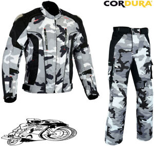 MENS CAMO HAWK CE VENTED MOTORBIKE / MOTORCYCLE TEXTILE JACKET TROUSERS SUIT