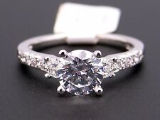Scott Kay Platinum Round Diamond Engagement Promise Ring M1080 Semi Mounting