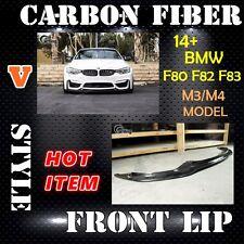 CARKING 15 CARBON FIBER BMW F80 F82 F83 M3/M4 V style FRONT LIP SPLITTER SPOILER