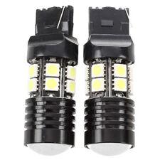 2 x Bianco T20 7443 7440 13 SMD 5050 LED lampadina inversione reverse lampa U1H3
