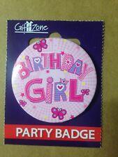 Birthday Celebration Party Badge Birthday Girl  ,,,,,