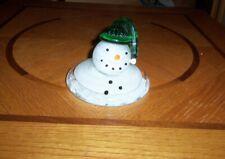 Prestige Art Glass Paperweight Snowman