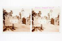 Biskra Algeria Foto Stereo L3n1 Vintage Placca Da Lente