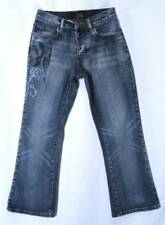 WINGED SKULL Low Rise BUTTON FLY Boot Cut CCS Ledge To Flex STRETCH Jeans! 26/26
