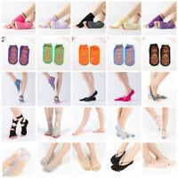 Adult Kids Fashion Non Slip Yoga Socks Skid Pilates Ballet Dance Sports Exercise