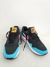 Nike Air Max 1 Jelly Swoosh Men's Black Pink Blue Fury Athletic Shoes Size 10