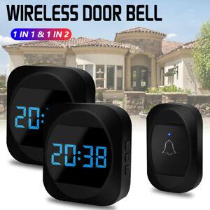 300M Wireless Digital Door Bell Wall Plug in Waterproof Cordless Door Chime Kit