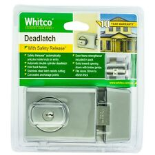 Whitco Chrome Double Cylinder Deadlatch/secure you home with the toughest brand