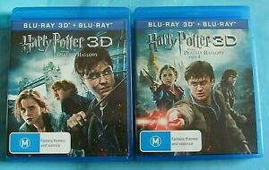 HARRY POTTER and The Deathly Hallows Part 1 & 2 3D BLU-RAY + BLU-RAY  6 DISCS