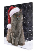 Let it Snow Christmas Holiday Selkirk Rex Cat Canvas Wall Art T72