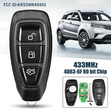 Us For 2011 2012 2013 2014 2015 2016 2017 Ford Fiesta Remote Key Fob Kr55wk48801 Fits Ford