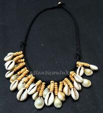 NE69 Handmade choker mala Gift bovine bone bead cowry shell Necklace NEPAL Tibet