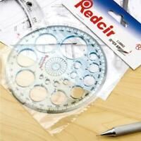 360 Degree Full Circle Plastic Protractor Angle Finder Measuring Ruler-Templates