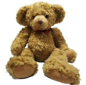 "Vintage Russ Berrie Teddy Bear ""Goldy"" 16"" EUC Weighted Feet Handmade China"