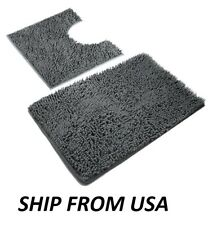 2 Bath Rugs Pieces Mats For Bathroom, Luxury Soft Microfiber, Absorbent Shaggy ""