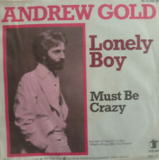 """7"""" 1977 US KULT RARE IN VG+++! ANDREW GOLD : Lonely Boy"""