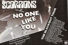 SCORPIONS Blackout Tour 1982 UK magazine ADVERT / Poster 8x6 inches