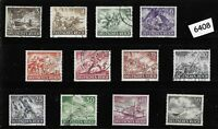 #6408   Complete used stamp set / Wehrmacht & other Military 1943 / Third Reich