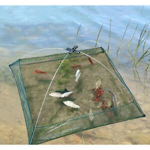 Folded Fishing Net Small Fish Shrimp Crawdad Minnow Crab Bait Cast Trap