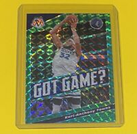 2019-20 Panini Mosaic Karl-Anthony Towns Got Game? GREEN PRIZM Wolves #20 SP 🔥