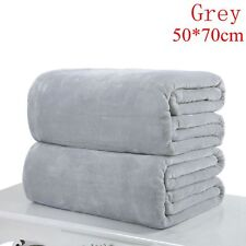 Super Soft Solid Warm Micro Throw Blanket Rug Plush Fleece Bed Quilt Sofa Home Grey