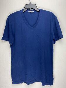 James Perse SHORT SLEEVE V-NECK Men's Tee Blue MLJ3352