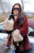 NEW SAGA MINK FUR JACKET FOX CLASS OF SABLE CHINCHILLA COAT VEST FINNRACCOON RED
