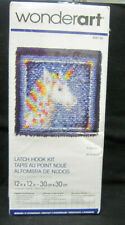 Wonderart Unicorn Wall Hanging or Pillow top Latch Hook Kit 12 x 12