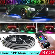 Car Neon Light Tube Underbody Phone App Control Rgb Led Strips Kit For Lexus Bmw