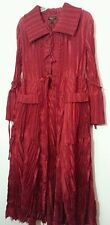Jerry T Crinkle Red Long Party Jacket 1X 18 20 2X 22 Deep Red Plus Party Jacket