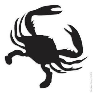 Crab Cancer Claws Decal Sticker Choose Color + Size #1303