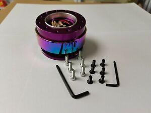 Purple & Neo Chrome 6 holes Steering Wheel Quick Release Hub Adapter Boss Kit
