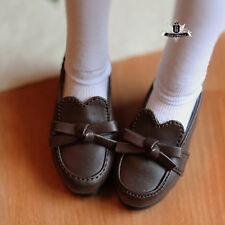 1/4 BJD Shoes MSD Dollfie DREAM Student Flat Brwon shoes Luts AOD DOD MID EID DZ