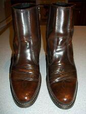 """Laredo 62004 Brown Leather """"LONG HAUL"""" Cowboy Boots Side Zip Men's Size 7 D."""