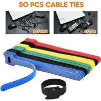 50stk Klettkabelbinder kabelbinder klettband klettverschluss befestigungsbinder