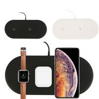 3in1 Qi Wireless Charger Charging Dock Station for Apple Watch / iPhone