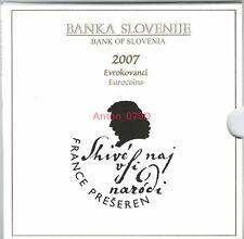 KMS SLOWENIEN 2007 BU Kursmünzensatz Slovenia Slovenije Coin-Set ***