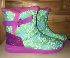 "UGG Australia Disney Pixar ""Inside Out"" Knotty Disgust Boots Girls Size 6"