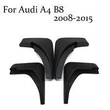 ABS Front+Rear Flaps Flag Splash Mud Guard Protective Fender For Audi A4 B8