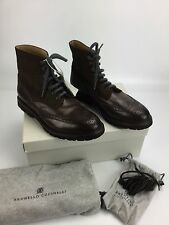 Brunello Cucinelli NIB Leather/suede Brown Boot Sz 10 US/ 43 Euro Retail $1300