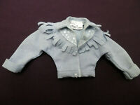 1988 Barbie Feeling Fun Denim Doll Jacket  Fringed Blue