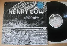 """Henry Cow - Concerts 2x12"""" Promo LP Robert Wyatt"""
